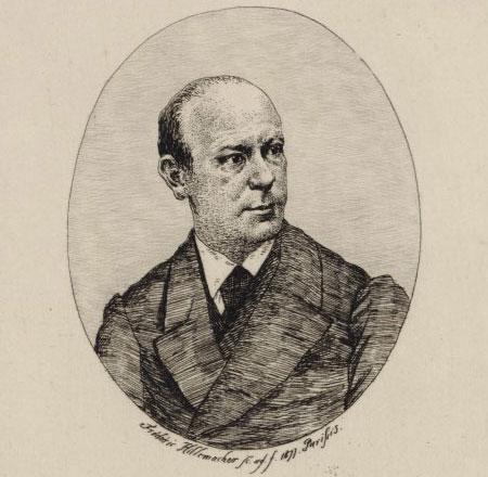 Edouard Remenyi, violon solo de SM l'Empereur d'Autriche-Hongrie, [gravure de Frédéric Hillemacher], Paris 1877 © Gallica - BnF